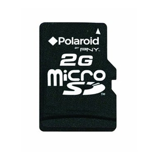 Polaroid P-SDU2G-FS/POL 2GB microSD Flash Memory C