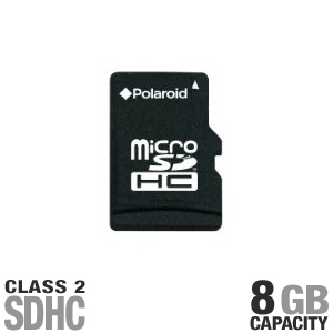 Polaroid microSDHC Flash Memory Card - 8GB