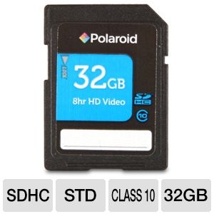 Polaroid 32GB High Speed Class 10 SDHC Memory Card