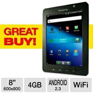 "Pandigital 8"" 4GB Android 2.3 Internet Tabl REFURB"