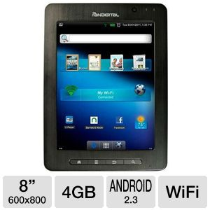 "Pandigital 8"" 4GB Android 2.3 Internet Tablet"