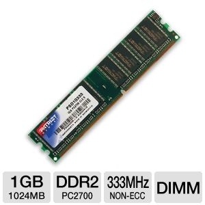 Patriot 1024MB PC2700 DDR Memory