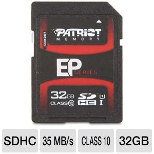 Patriot EP Series 32GB Class 10 SDHC Card