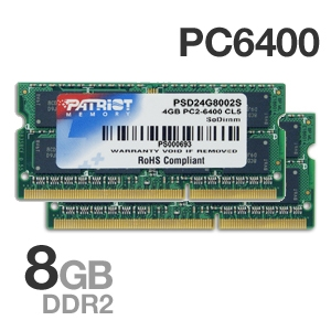 Patriot 8GB Laptop Memory Module Kit