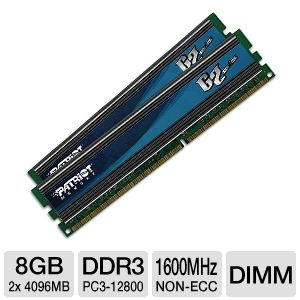 Patriot G2 Series 8GB (2x 4GB) Desktop Memory Kit