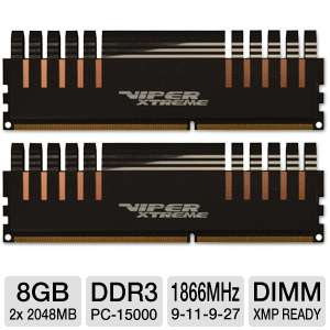 Patriot Viper Xtreme Series 4GB (2 x 4GB) DDR3 RAM