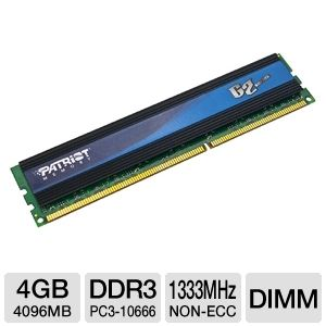 Patriot 4GB DDR3-1333MHz G2 Desktop Memory Module