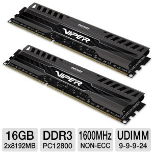 Patriot Viper 3 16GB Memory Module Kit