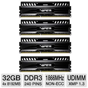 Patriot Viper 3 Series 32GB Memory Module Quad Kit
