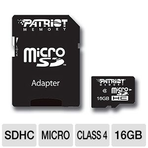 Patriot 16GB Signature MicroSDHC Memory Card