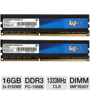 Patriot G2 16GB DDR3-1333MHz Desktop Memory Kit