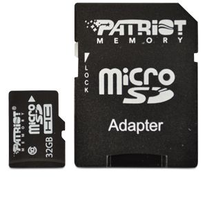 Patriot 32GB Class 10 microSDHC Flash Card