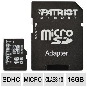 Patriot 16GB Signature Flash MicroSDHC Class 10
