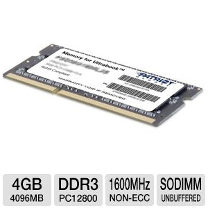 Patriot 4GB Laptop Memory Module