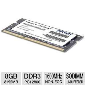 Patriot 8GB Laptop Memory Module