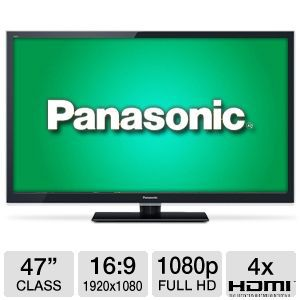"Panasonic TCL47ET5 47"" 1080p 120Hz 3D Smart HDTV"