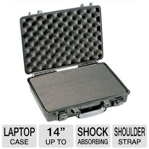Pelican 1490 Laptop Case with Shock Absorbing Tray