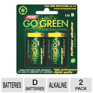Perf Go Green 25009 D Batteries