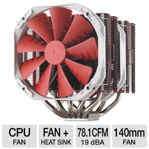 Phanteks Dual Heat Pipe Multi-Socket CPU Fan Red
