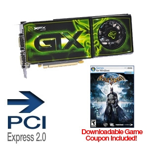 XFX GeForce GTX 275 OC 896MB w/FREE Batman Game