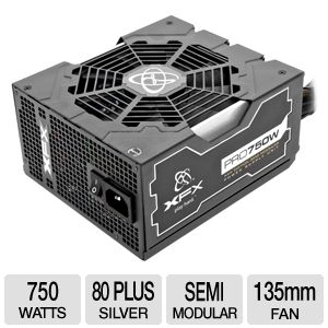XFX Pro Series XXX Ed ATX Semi-Modular 750W Bundle