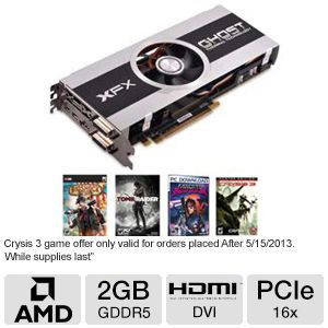 XFX Radeon HD 7870 Core Edition 2GB GDDR5 PCIe 3.0