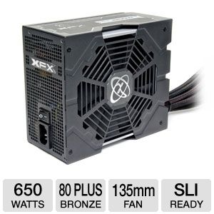 XFX 650W 80 Plus Bronze Core Edition PSU