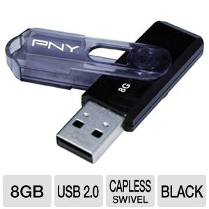 PNY 8GB Mini Attache USB 2.0 Flash Drive