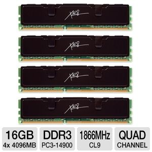 PNY XLR8 16GB DDR3 1866 Dual Channel Memory Kit