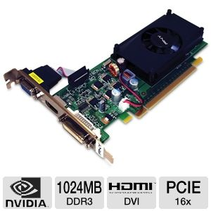 PNY GeForce 210 1GB DDR3 PCIe 2.0 LP Video Card