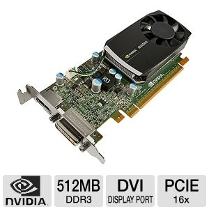 PNY Quadro 400 512MB DDR3 Workstation Graphics