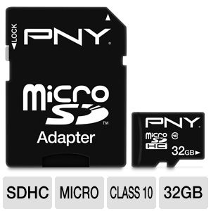 PNY Hi-Speed 32GB MicroSDHC Flash Card