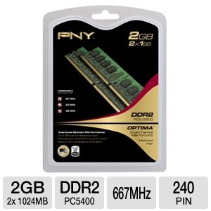 PNY 2GB Dual Channel Memory Module