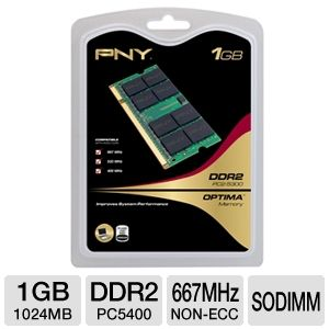 PNY 1GB Laptop Memory Module