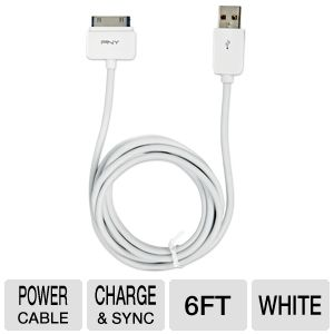 PNY 6' ft Charge & Sync Cable in White