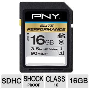 PNY High Performance 16GB SDHC Flash Memory Card