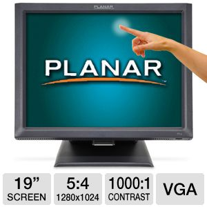 "Planar PT1945R 19"" Touch Screen LCD Monitor"