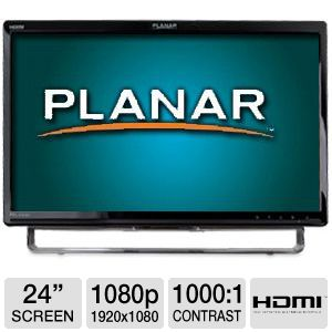 "Planar 24"" 1080p Multi-Touch LED, Speakers, HDMI"