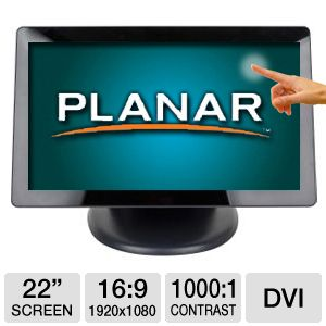 "Planar PT2285PW 22"" Class Multi-Touch LCD Monitor"