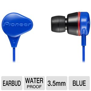 Pioneer Noise Isolating Waterproof Earbud Blue