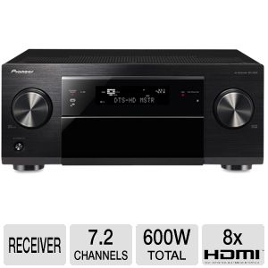 Pioneer SC-1222-K 7.2 Channel Network Ready A/V Re