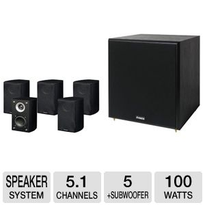 Pinnacle Speakers 4D33310 Home Theater System