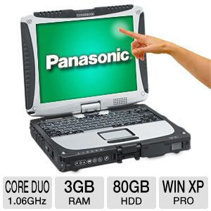 "Panasonic Toughbook 10.4"" Core Duo 80GB Notebook"