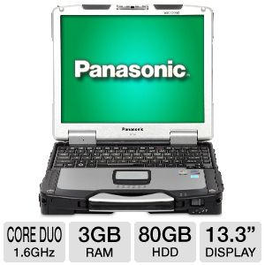 "Panasonic Toughbook 13.3"" Core Duo 80GB Notebook"