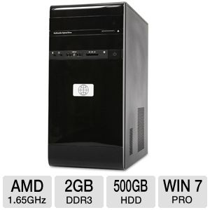 HP Debranded Dual Core AMD Desktop PC
