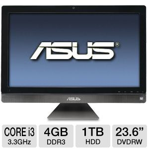 "ASUS 23.6"" Core i3 1TB HDD Refurb. All-In-One PC"