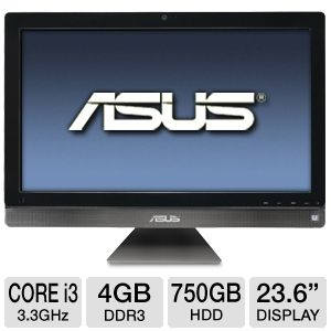 "ASUS 23.6"" Core i3 750GB HDD Refurb. All-In-One PC"