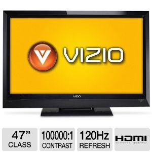 "Vizio E472VL 47"" 1080p 120Hz Internet Apps LCD TV"