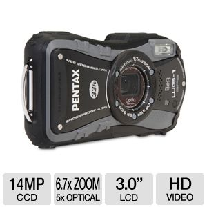 Pentax WG-1 Gray GPS 14MP Digital Camera