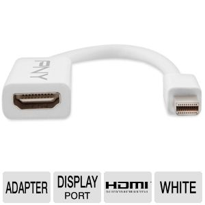 PNY A-DM-HD-W01 Mini DisplayPort to HDMI Adapter